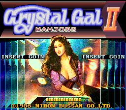 Crystal Gal II Mahjong (ARC)  © Nichibutsu 1986   1/3