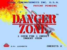 Danger Zone (ARC)  © Cinematronics 1986   1/4