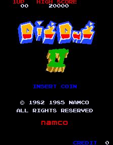 Dig Dug II (ARC)  © Namco 1985   1/4
