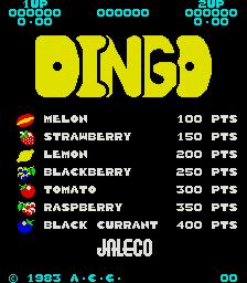 Dingo (ARC)  © Jaleco 1983   1/3