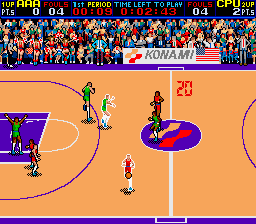 Double Dribble (ARC)  © Konami 1986   2/3