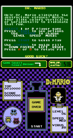 Dr. Mario (ARC)  © Nintendo 1990   2/3