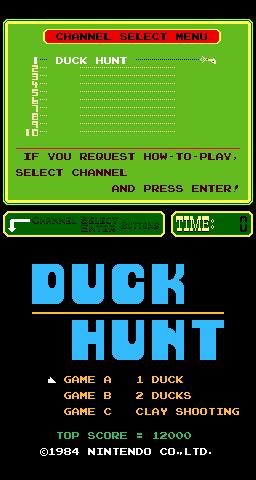 Duck Hunt (ARC)  © Nintendo 1984   1/3