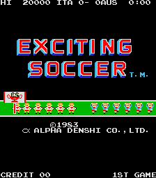 Exciting Soccer (ARC)  © ADK 1983   1/3