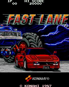 Fast Lane (ARC)  © Konami 1987   1/4
