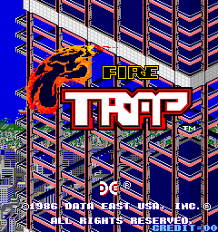 Fire Trap (ARC)   © Data East 1986    1/3