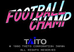 Football Champ (ARC)  © Taito 1990   1/3