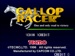Gallop Racer (ARC)  © Tecmo 1996   1/5