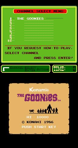 The Goonies (ARC)  © Konami 1986   1/4