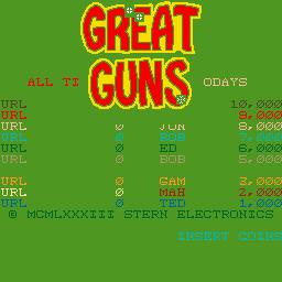 Great Guns (ARC)  © Stern 1983   1/3
