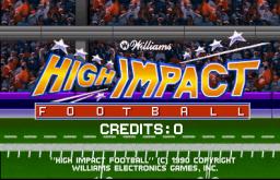 High Impact Football (ARC)  © Williams 1990   1/4