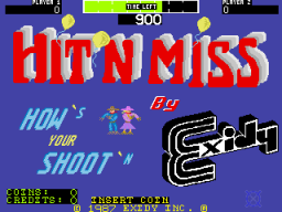 Hit 'N Miss (ARC)   © Exidy 1987    1/4