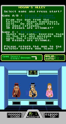 Hogan's Alley (ARC)  © Nintendo 1984   2/3