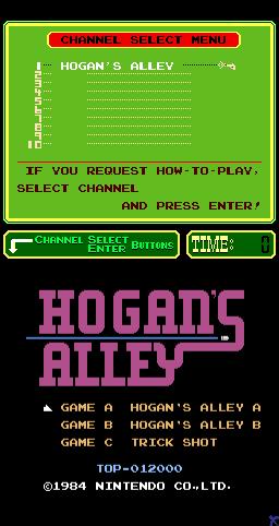 Hogan's Alley (ARC)  © Nintendo 1984   1/3