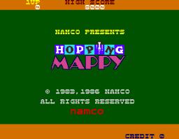 Hopping Mappy (ARC)  © Namco 1986   1/3