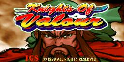 Knights Of Valour (ARC)  © IGS 1999   1/3