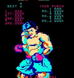 KO Punch (ARC)  © Sega 1981   1/3