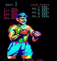 KO Punch (ARC)  © Sega 1981   2/3