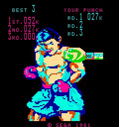 KO Punch (ARC)  © Sega 1981   3/3