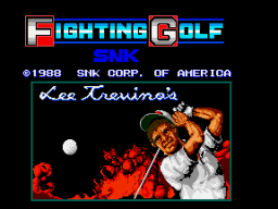 Fighting Golf (ARC)   © SNK 1988    1/4