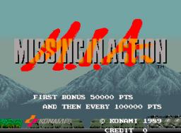 M.I.A.: Missing In Action (ARC)  © Konami 1989   1/4