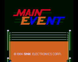 Main Event (ARC)  © SNK 1984   1/3