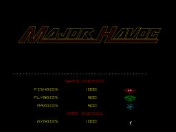 Major Havoc (ARC)  © Atari (1972) 1983   1/5