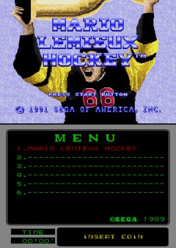 Mario Lemieux Hockey (ARC)  © Sega 1991   1/4