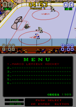Mario Lemieux Hockey (ARC)  © Sega 1991   2/4