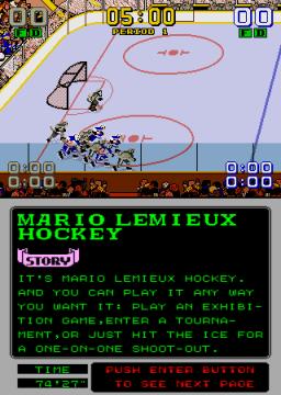 Mario Lemieux Hockey (ARC)  © Sega 1991   3/4