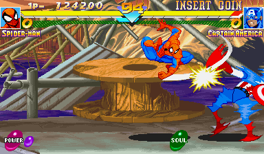Marvel Super Heroes (ARC)   © Capcom 1995    19/24
