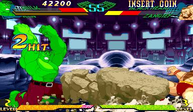 Marvel Super Heroes Vs. Street Fighter (ARC)  © Capcom 1997   4/22