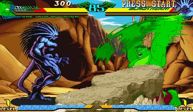 Marvel Super Heroes Vs. Street Fighter (ARC)  © Capcom 1997   21/22