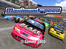 Maximum Speed (ARC)  © Sammy 2003   1/3