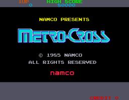Metro-Cross (ARC)  © Namco 1985   1/4