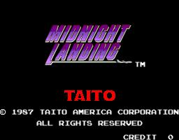 Midnight Landing (ARC)  © Taito 1987   1/3