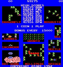 Millipede (ARC)  © Atari (1972) 1982   1/3