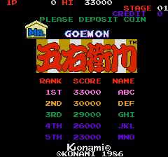 Mr. Goemon (ARC)  © Konami 1986   1/5