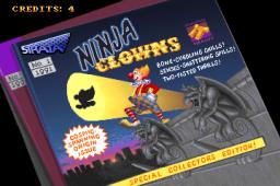 Ninja Clowns (ARC)  © Strata 1991   1/4