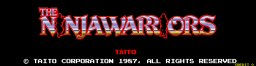 Ninja Warriors (ARC)   © Taito 1988    1/5
