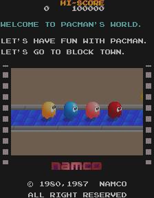 Pac-Mania (ARC)  © Namco 1987   4/4