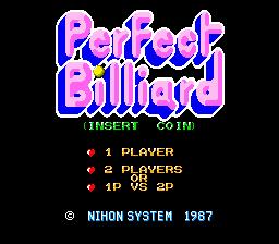 Perfect Billiard (ARC)  © Nihon System 1987   1/3