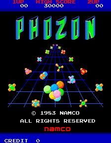 Phozon (ARC)  © Namco 1983   1/4