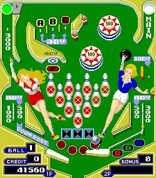Pinball Action (ARC)  © Tecmo 1985   3/4
