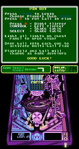 Pinbot (ARC)  © Nintendo 1989   2/3
