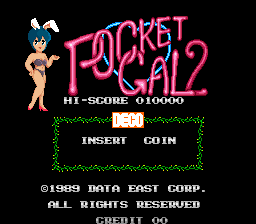 Pocket Gal 2 (ARC)  © Data East 1988   1/3