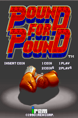 Pound For Pound (ARC)  © Irem 1990   1/3