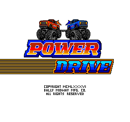 Power Drive (1987) (ARC)  © Bally Midway 1987   1/3