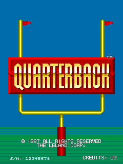 Quarterback (ARC)   © Leland 1987    1/3