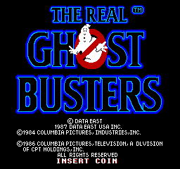 The Real Ghostbusters (ARC)  © Data East 1987   1/4